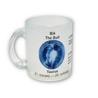 Šalica (matirano prozirna) - znakovi - horoskop bik