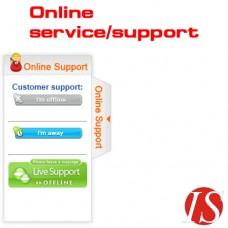 Sliding Online Service-Support module for OpenCart 1.5.1.x