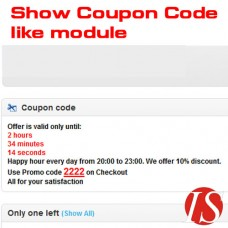 Show Coupon Code like module for OpenCart v1.5.0.x & v1.5.1.x