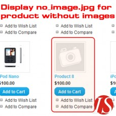 Display no_image.jpg for product without images for OpenCart 1.5.x.x