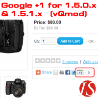 Google +1 za artikle za OpenCart 1.5.x.x (vQmod)