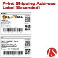 Ispis naljepnica s adresama za dostavu (prošireni) for v1.5.2.x (vQmod)
